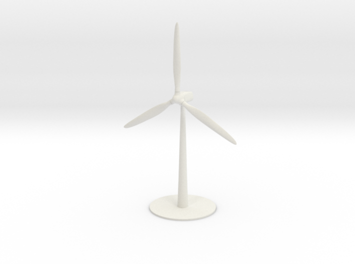 A Spinning Wind Turbine 3d printed