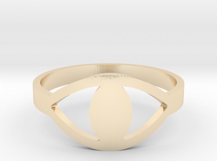 Evil eye Ring 3d printed