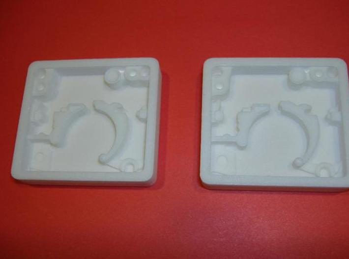 Pair of Blaster Stock Center Greeble 3d printed White strong & flexible polished