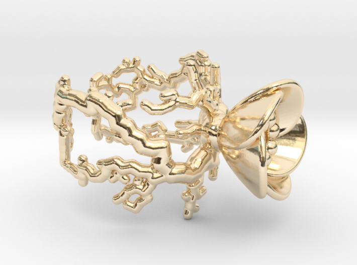 Half open flower ring (US sizes 5.75 – 9.75) 3d printed