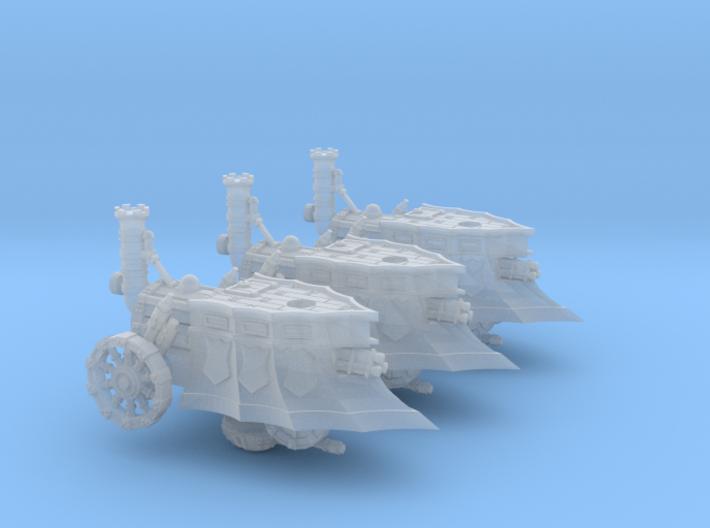 10mm Tri-Barrel Steam Tanks (3pcs) 3d printed