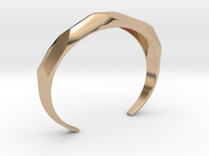 faceted cuff bracelet 3d printed