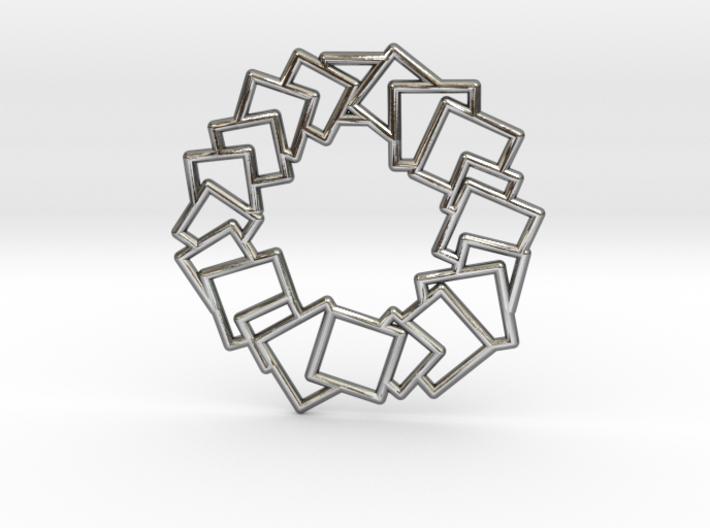 Squares Wreath Pendant 3d printed