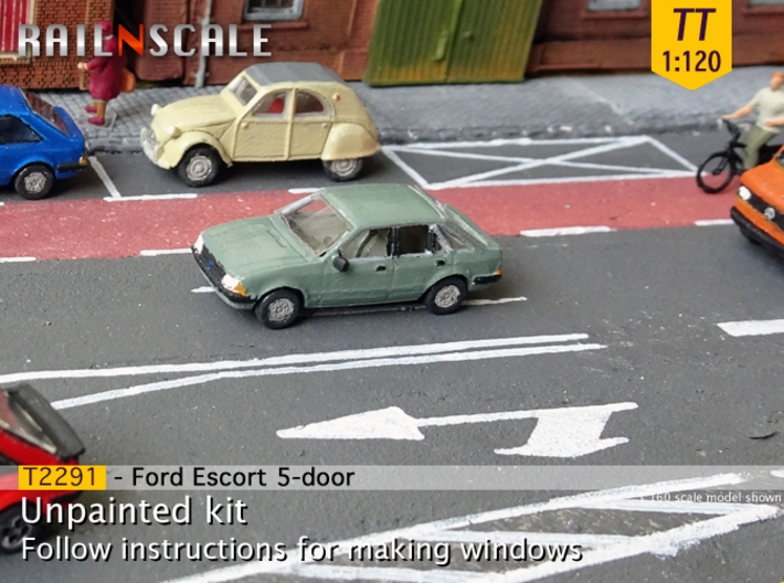 Ford Escort 5-door (TT 1:120) 3d printed