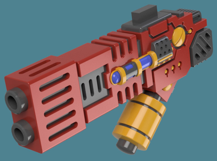 Fusion Blaster M1 bits, pack of 4/8/12/16 3d printed A single weapon render 1
