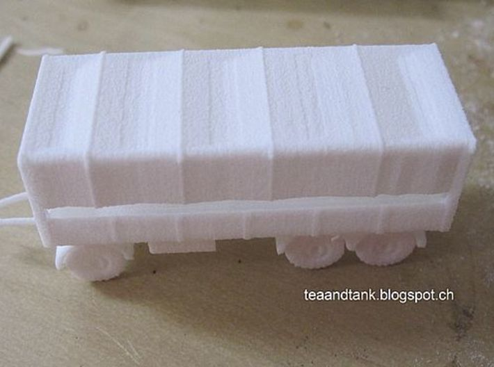 1/144 set of two German 7 ton trailers 3d printed