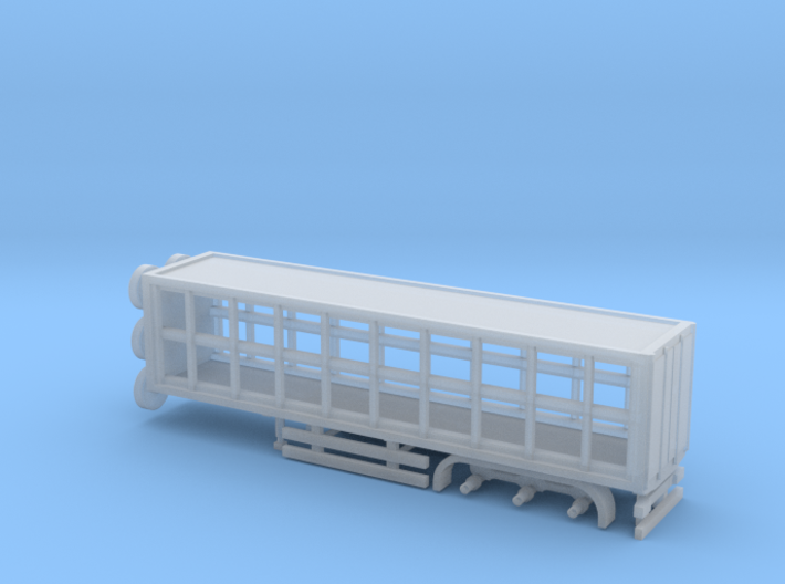 N Gauge Artuculated Lorry Curtain Sided Trailer 3d printed