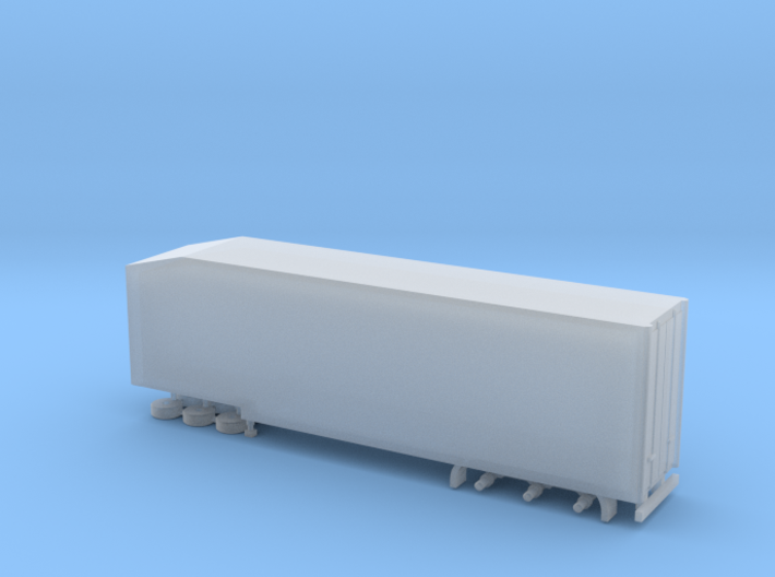 N Gauge Articulated Lorry Hi Box Trailer 3d printed