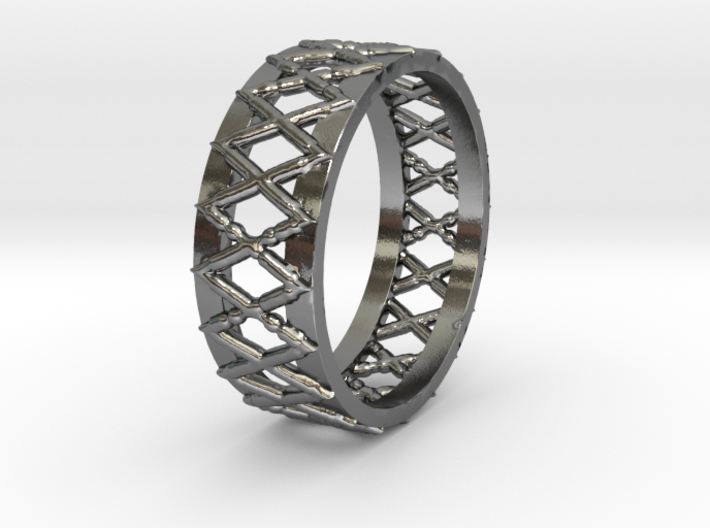Knitted Ring-15 mm 3d printed