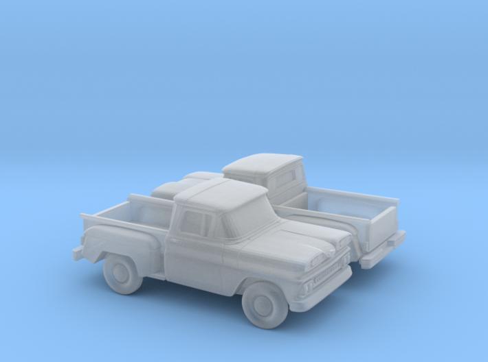 1/160 2X 1961 Chevrolet C-10 Stepside 3d printed