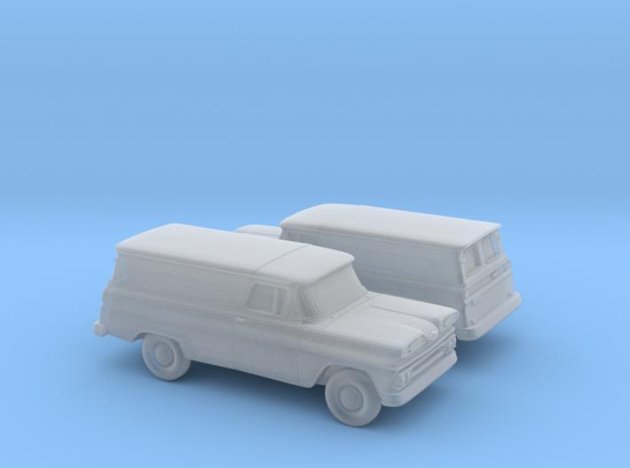 1/160 2X 1960/61 Chevy PanelVan Horizontal Devided 3d printed