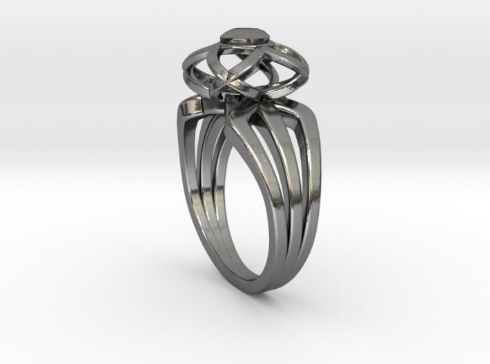 3-2 Enneper Curve Triple Ring (002) 3d printed 3-2 Enneper Curve Triple Ring (002)