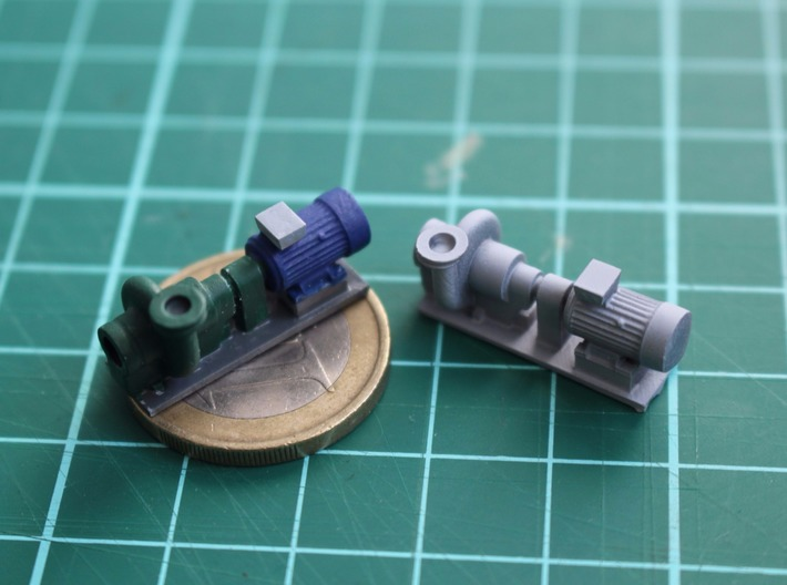 Centrifugal Pump #2 (Size 3) 3d printed Painted pumps