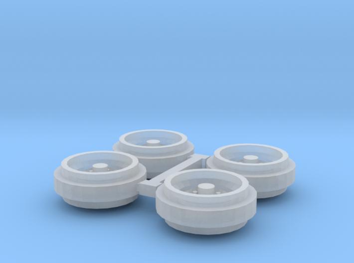 1/64 60s/70s Steel Rims (1 Set) 3d printed