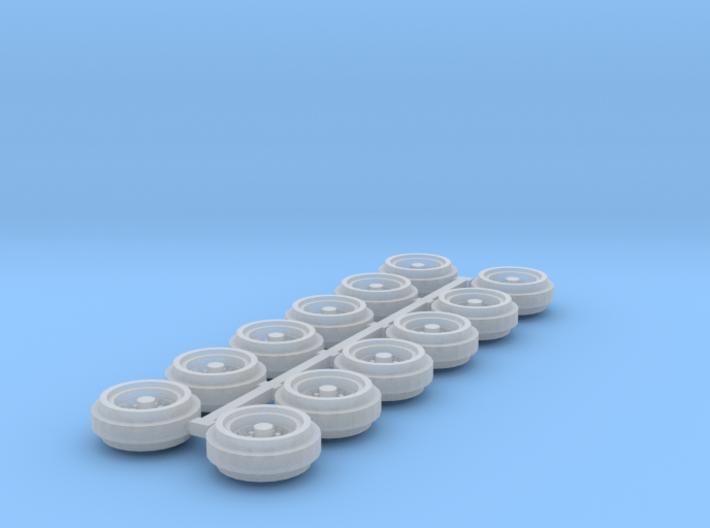 1/64 80s Steel Rims (3 Sets) 3d printed