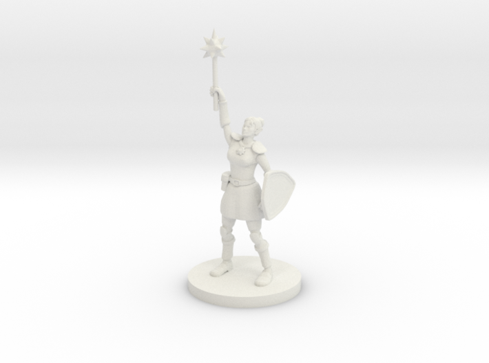 Female Elven Paladin / Cleric 3d printed