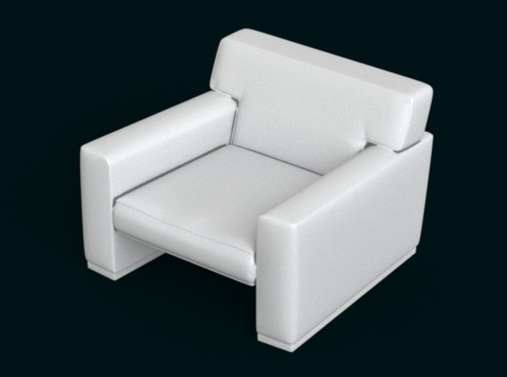 1:10 Scale Model - ArmChair 05 3d printed