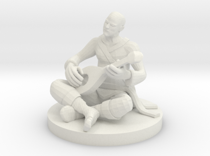 Monk Bard Jammin Out 3d printed