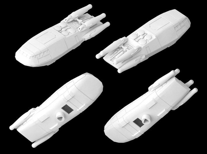 Atmospheric Shuttle 1/270 3d printed