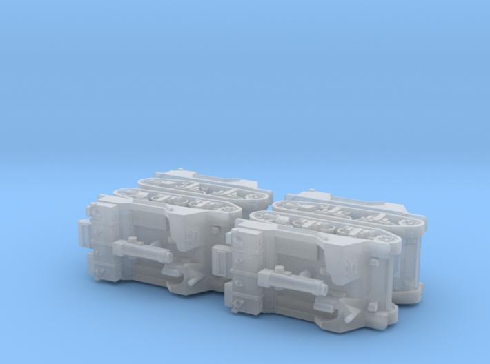 US T82 105mm HMC 1/144 3d printed