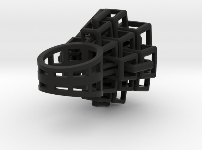 Kubus-ring-groot 3d printed