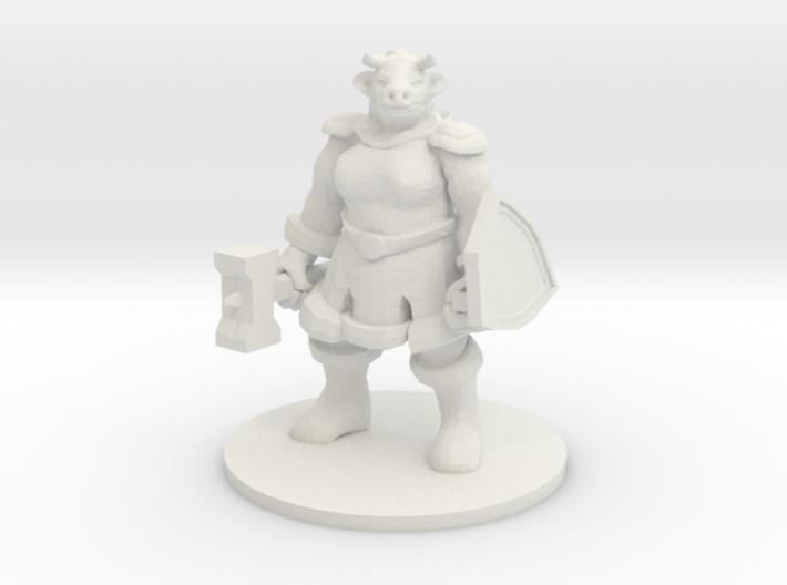 Female Minotaur Warrior 3d printed