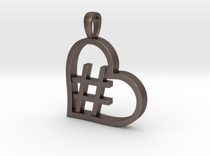 Alpha Heart 'Hashtag' 3d printed