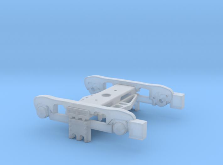 Bogie-coach 3d printed