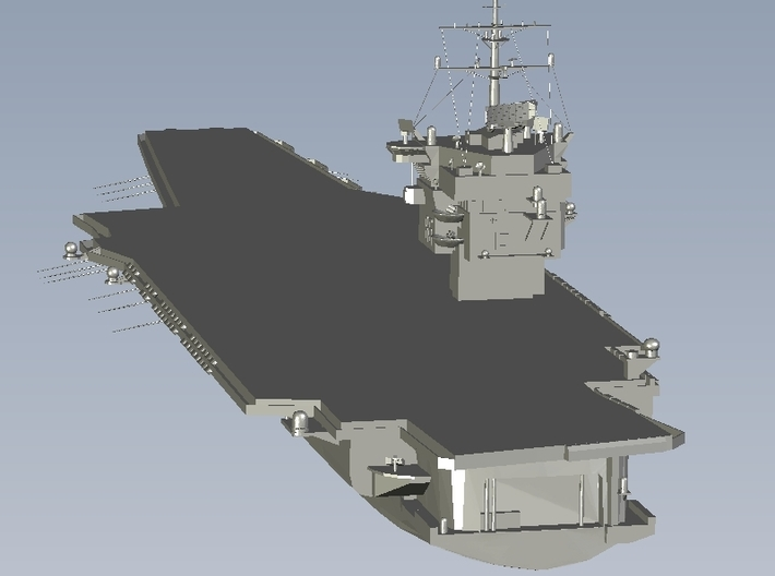 1/1800 scale USS Enterprise CV-65 aircraft carrier 3d printed