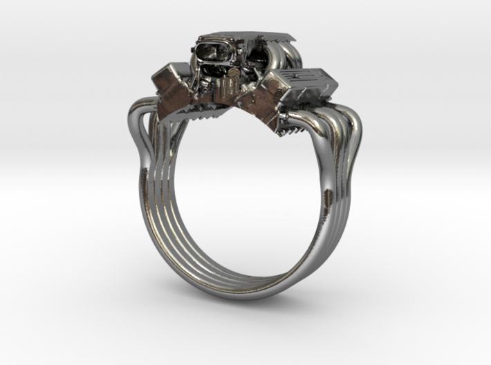Chevy Corvette V8 Engine Ring 3d printed