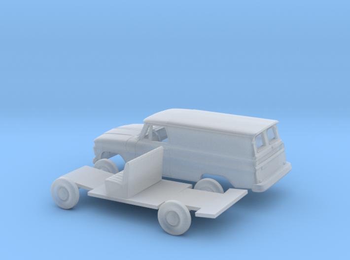 1/160 1963-66 Chevrolet Panel Van Split Door Kit 3d printed
