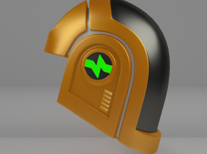 Glatorian Daft Punk Helmet 1 3d printed Coloring suggestion