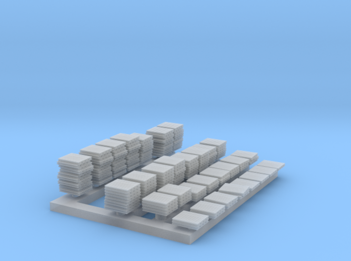 1:285 Scale Pallets -- Lots of them! 3d printed