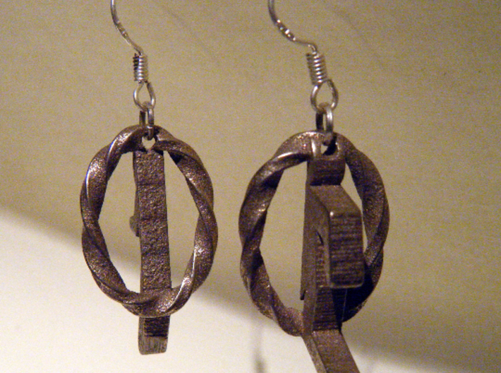 Portal Earrings - Valve approved! 3d printed