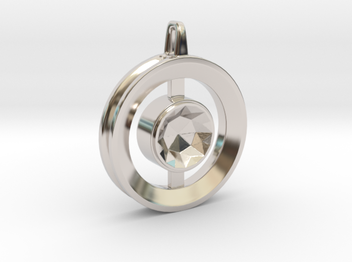 Origin ::: Circle Pendant ::: v.01 3d printed