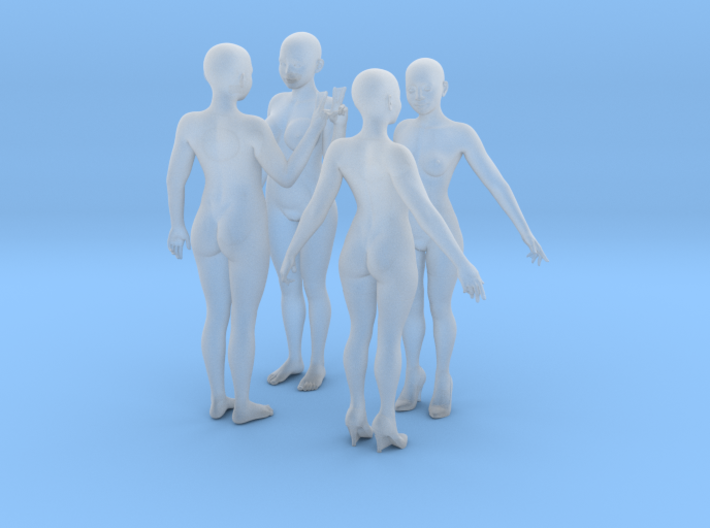 Ai and Steffi - 1:25 Females - set of 4 3d printed Render of projected print