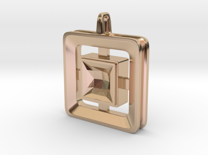 Origin ::: Square Pendant ::: v.01 3d printed