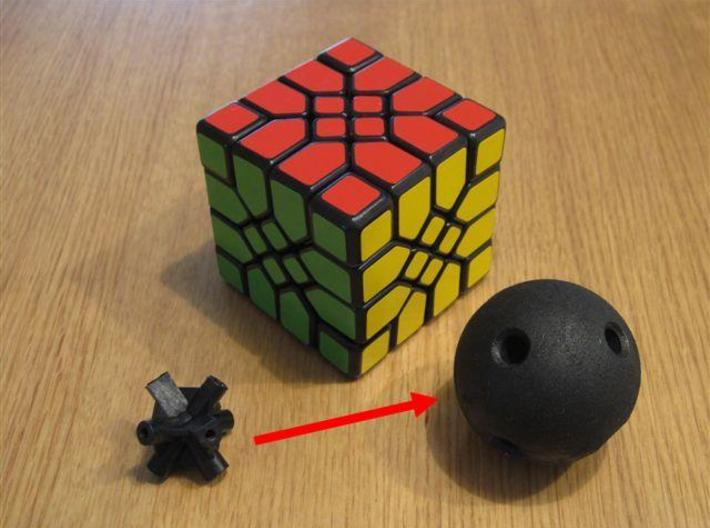Mosaic Cube Sphere Core 3d printed Mosaic Cube with new sphere core