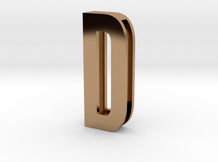 Choker Slide Letters (4cm) - Letter D 3d printed