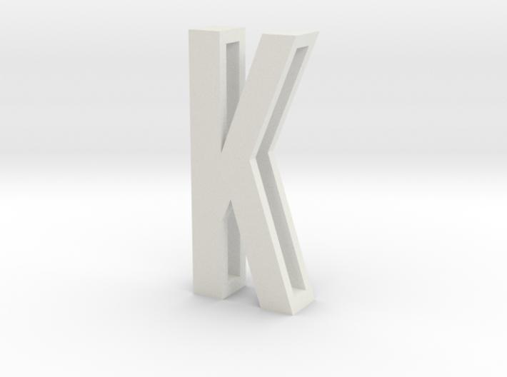 Choker Slide Letters (4cm) - Letter K 3d printed