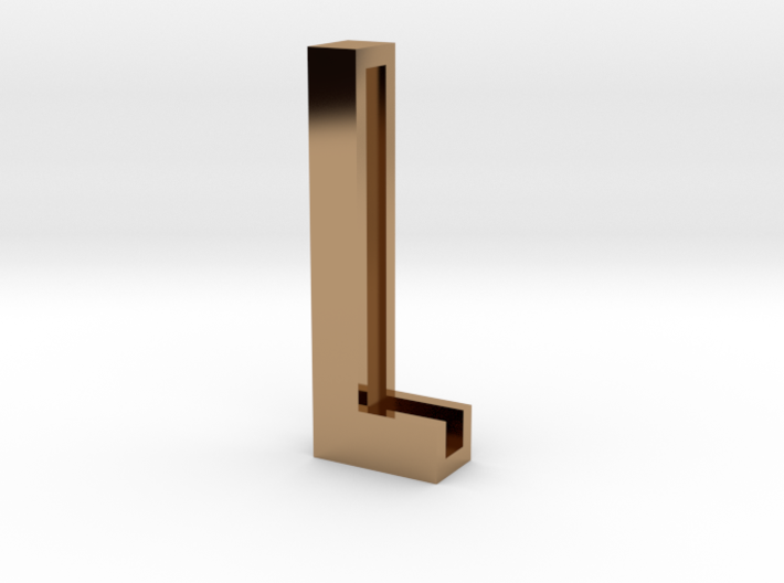 Choker Slide Letters (4cm) - Letter L 3d printed