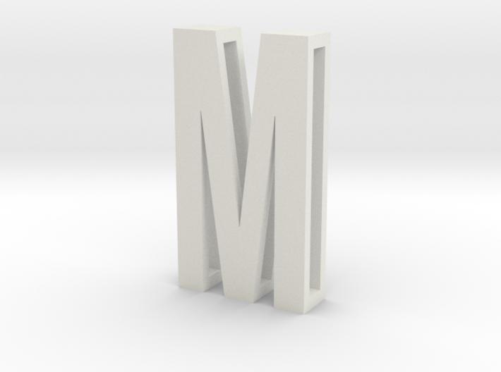 Choker Slide Letters (4cm) - Letter M 3d printed