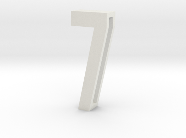 Choker Slide Letters (4cm) - Number 7 3d printed