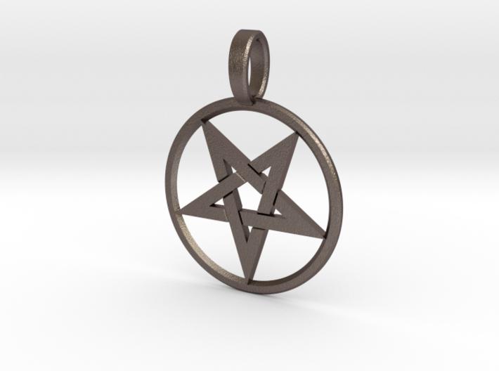 Inverted Pentagram Pendant 3d printed