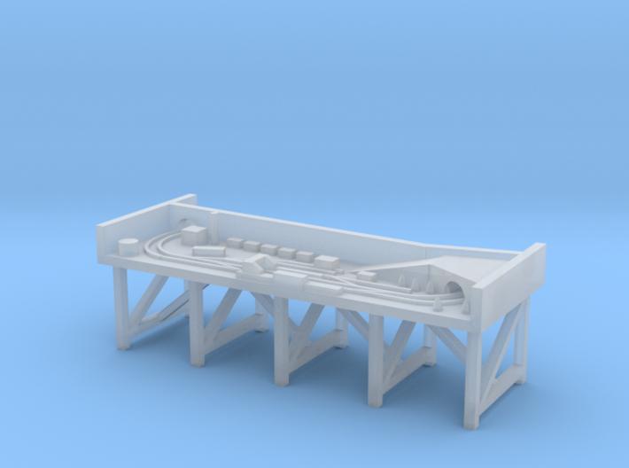 N Gauge Micro Model Railway Diorama 3d printed