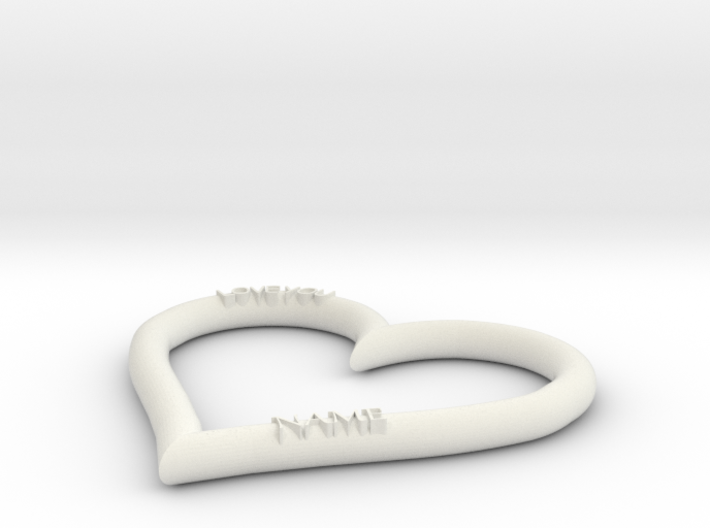 HEART NAME 3d printed