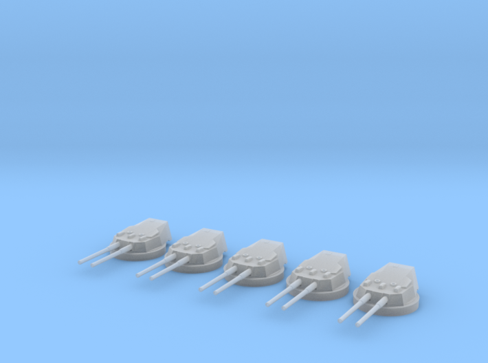 1/600 HMS Dreadnought 12 inch /45 Turrets SET 3d printed
