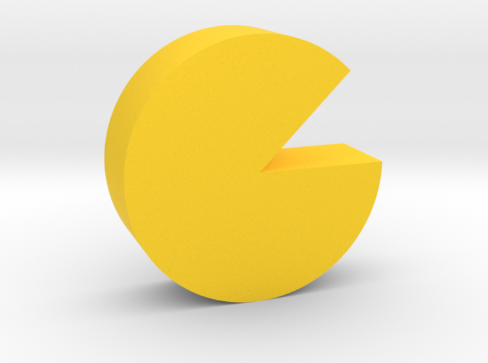 Cheese Wheel Game Piece 3d printed