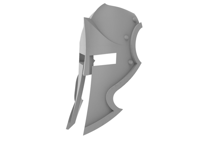 Spartan Knight - Face Plate 3d printed