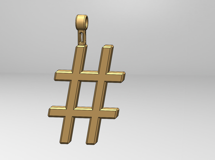 Hashtag Necklace 3d printed Hash-Tag Necklace